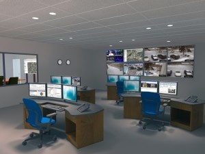 Design Rendering of Security Console and Emergency Operations Center